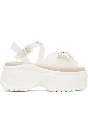 Simone Rocha Transparent Jelly Platform Track Sole Sandals