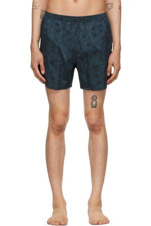 TRUE TRIBE Blue Camo Wild Steve Swim Shorts