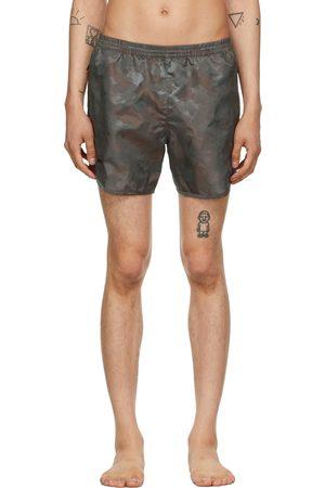 TRUE TRIBE Khaki Camo Wild Steve Swim Shorts