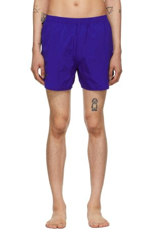 TRUE TRIBE Blue Wild Steve Swim Shorts