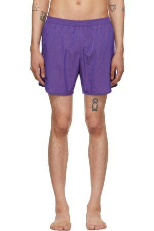 TRUE TRIBE Purple Wild Steve Swim Shorts