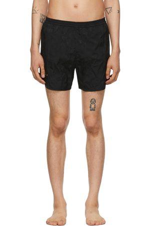 TRUE TRIBE Black Camo Wild Steve Swim Shorts