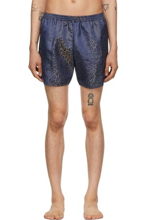 TRUE TRIBE Blue Leopard Wild Steve Swim Shorts