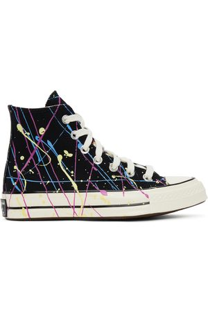 Converse Black Archive Paint Splatter Chuck 70 High Sneakers