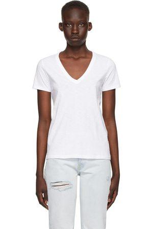 RAG&BONE White 'The Slub' Vee T-Shirt