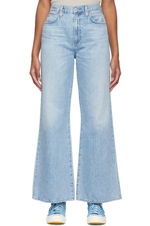 Citizens of Humanity Blue Rosanna Wide Leg Jeans