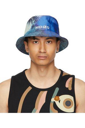 Kenzo Blue High Summer Tropical Graffiti Bucket Hat