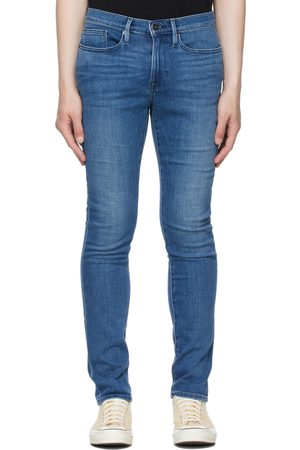 Frame Blue Stretch 'L'Homme Skinny' Jeans