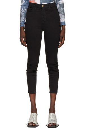Frame Black High-Rise Ali Cigarette Jeans