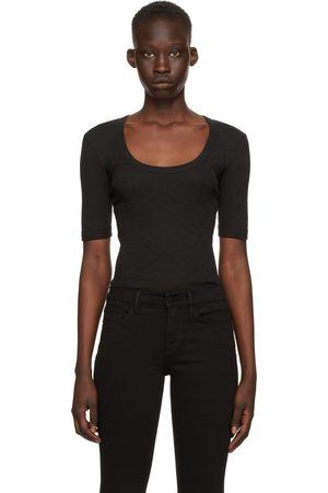 Frame Black Elbow Sleeve T-Shirt