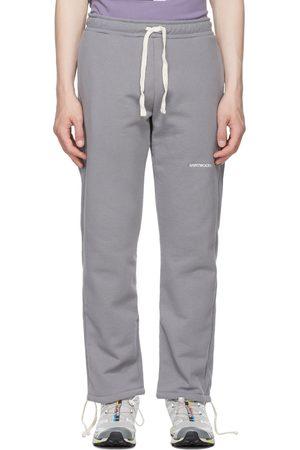 SAINTWOODS Grey Logo Lounge Pants