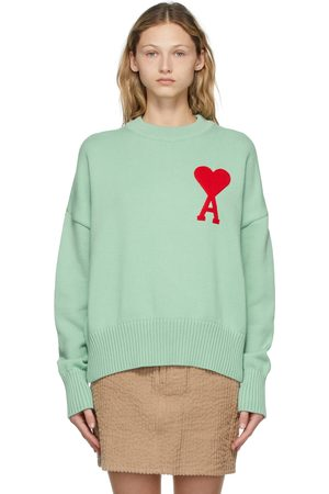 Ami Green Oversize Ami De Coeur Sweater