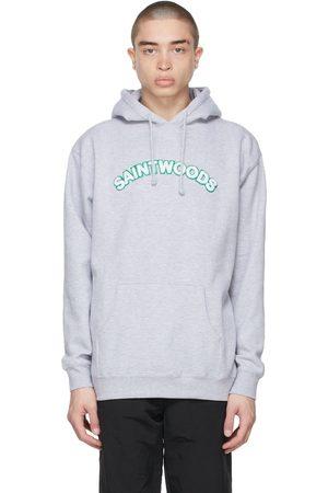SAINTWOODS Grey Chenille Logo Hoodie