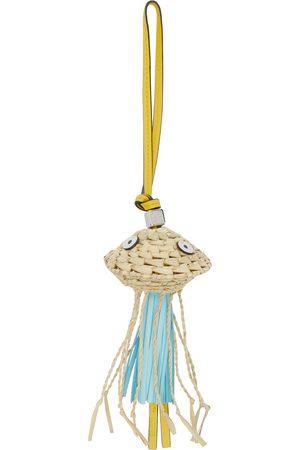 Loewe Yellow & Off-White Paula's Ibiza Jellyfish Charm Keychain