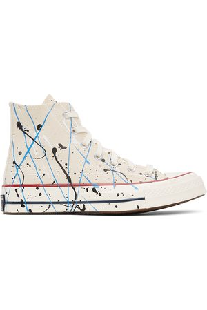 Converse Men Sneakers - Off-White Archive Paint Splatter Chuck 70 High Sneakers
