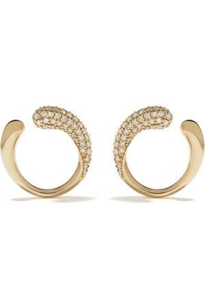 Georg Jensen Women Earrings - 18kt yellow Mercy diamond earrings - color