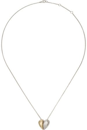 Georg Jensen 18kt yellow gold and sterling Curve heart pendant necklace - COLOR
