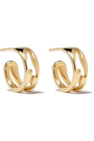 Georg Jensen Women Earrings - 18kt yellow Fusion open hoop earrings - color