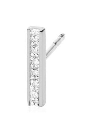 Monica Vinader Women Studs - Sterling Silver Signature Skinny Diamond Single Stud Earring Diamond