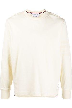Thom Browne Men Long Sleeve - Logo-patch long-sleeve T-shirt - Neutrals