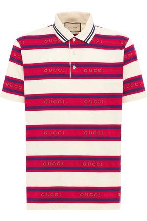 Gucci Jacquard Striped Cotton Polo