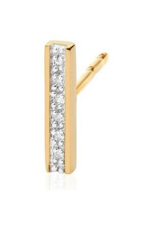 Monica Vinader Women Studs - Gold Signature Skinny Diamond Single Stud Earring Diamond