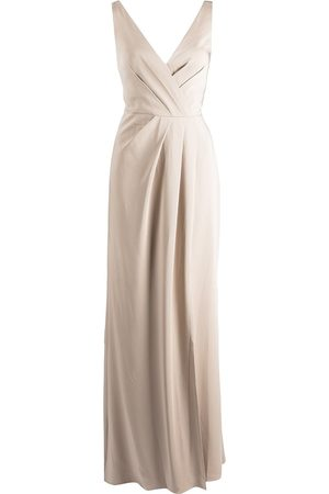 Marchesa Notte Bridesmaids Women Evening dresses - Cowl-effect floor-length gown