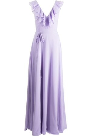 Marchesa Notte Women Evening dresses - Ruffle-trim floor-length gown