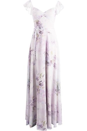 Marchesa Notte Bridesmaids Women Printed Dresses - Floral-print floor-length dress