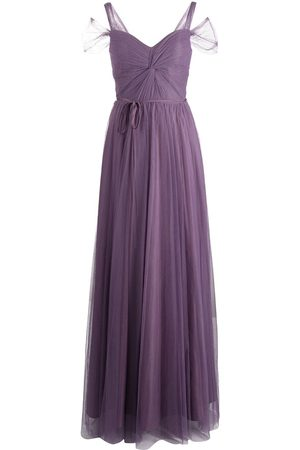 Marchesa Notte Bridesmaids Women Evening dresses - Short-sleeve floor-length gown