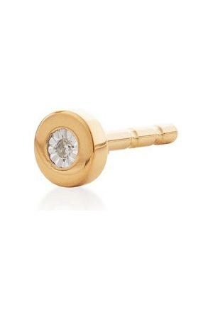 Monica Vinader Women Studs - Gold Linear Diamond Single Stud Earring Diamond
