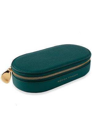Monica Vinader Women Jewelry - Personalised Leather Oval Trinket Box with dustbag