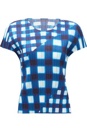 Pleats Please Issey Miyake - Check Technical-pleated Dress - Womens