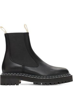 Proenza Schouler Women Chelsea Boots - 30mm Lug Leather Chelsea Boots