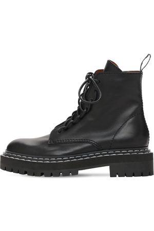 Proenza Schouler Women Boots - 30mm Lug Leather Combat Boots