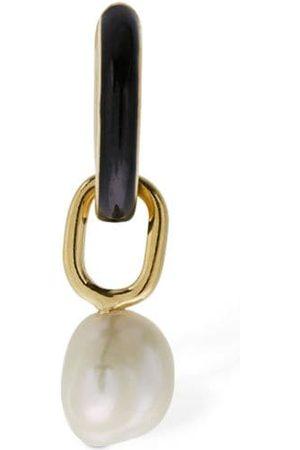 MARIA BLACK Women Earrings - Bluff Ebony Mono Huggie Earring