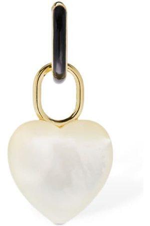 Maria Black Bluff Heart Mono Huggie Earring
