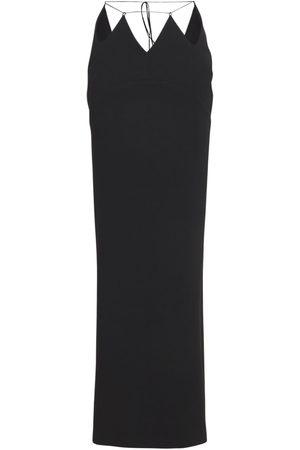 Monot Cut-out Silk Satin Long Skirt