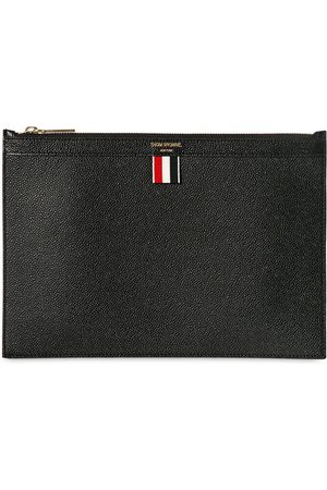 Thom Browne Men Bags - Medium Pebbled Leather Zip Pouch