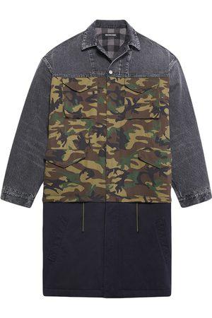 Balenciaga Men Coats - Patchwork car coat - Grey