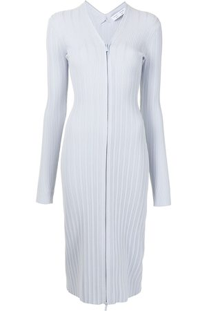 PROENZA SCHOULER WHITE LABEL Women Knitted Dresses - Ribbed knitted cardigan dress