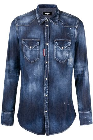 Dsquared2 Men Denim - Stonewashed denim shirt