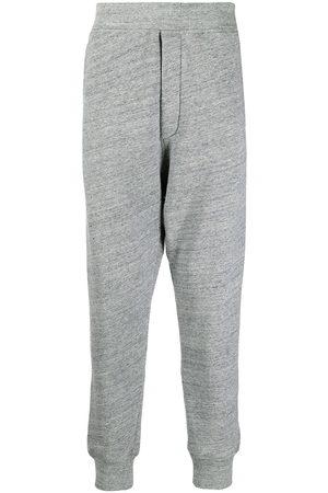 Dsquared2 Men Sweatpants - Melange cotton-jersey track pants - Grey