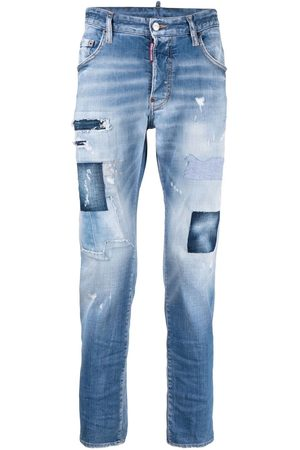 Dsquared2 Men Skinny - Patchwork distressed-effect skinny jeans