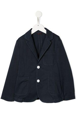 Fay Kids Boys Blazers - Contrast-stitching blazer
