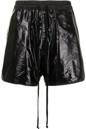 FEAR OF GOD Crinkled faux-leather shorts