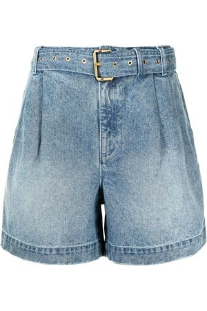 Michael Kors Women Shorts - Belted denim shorts