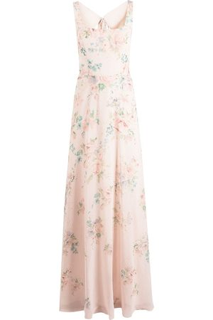 Marchesa Notte Sorrento floral-print dress