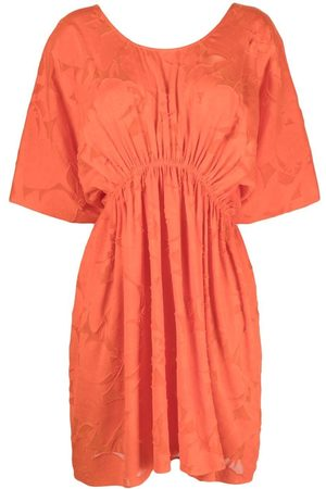 ERES Lace gathered-waist dress