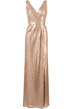 Marchesa Notte Atrani gathered-detail bridesmaid gown - Neutrals